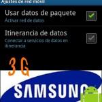 Conectar 3G en Samsung Galaxy