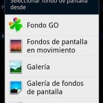 Cambiar fondo de pantalla Samsung Galaxy