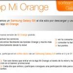 """Regalo de Samsung Galaxy S3 por utilizar aplicación """"Mi Orange"""""""