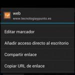 Cómo crear un acceso directo de una web a tu escritorio Android