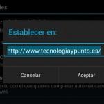 Establecer una web como página de inicio en Android